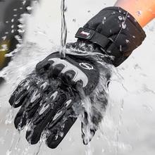 Wyprzedaż nowe rękawice motocyklowe zimowe ciepłe wodoodporne rękawice Outdoor Sport rękawice narciarskie Motorbiker Motocross Racing Riding bike