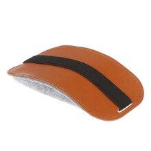 2019New! 1 шт. оранжевый из ПУ искусственной кожи сумка для мыши чехол для мыши сумка для хранения