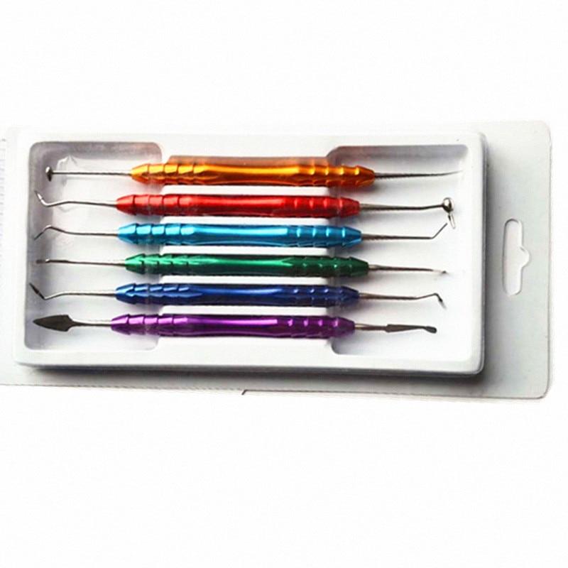 6 шт. стоматологический композитный наполнитель шпатель из смолы из нержавеющей стали стоматологический инструмент стоматологическое лабораторное оборудование с красочной ручкой|Базовый стоматологический инструмент|   | АлиЭкспресс