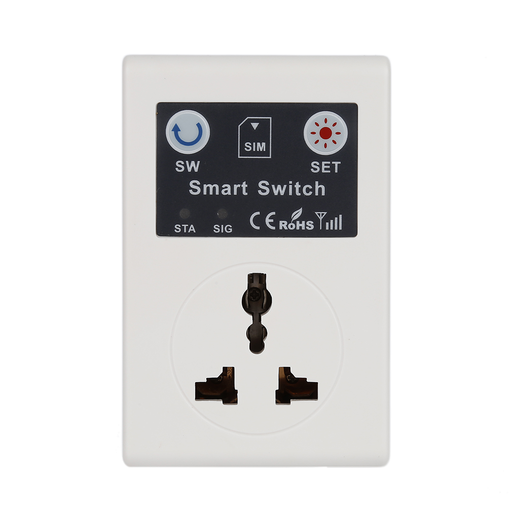 Professional UK/EU 220V Phone RC Remote Wireless Control Smart Switch GSM Socket Power Plug For Home Household Appliance