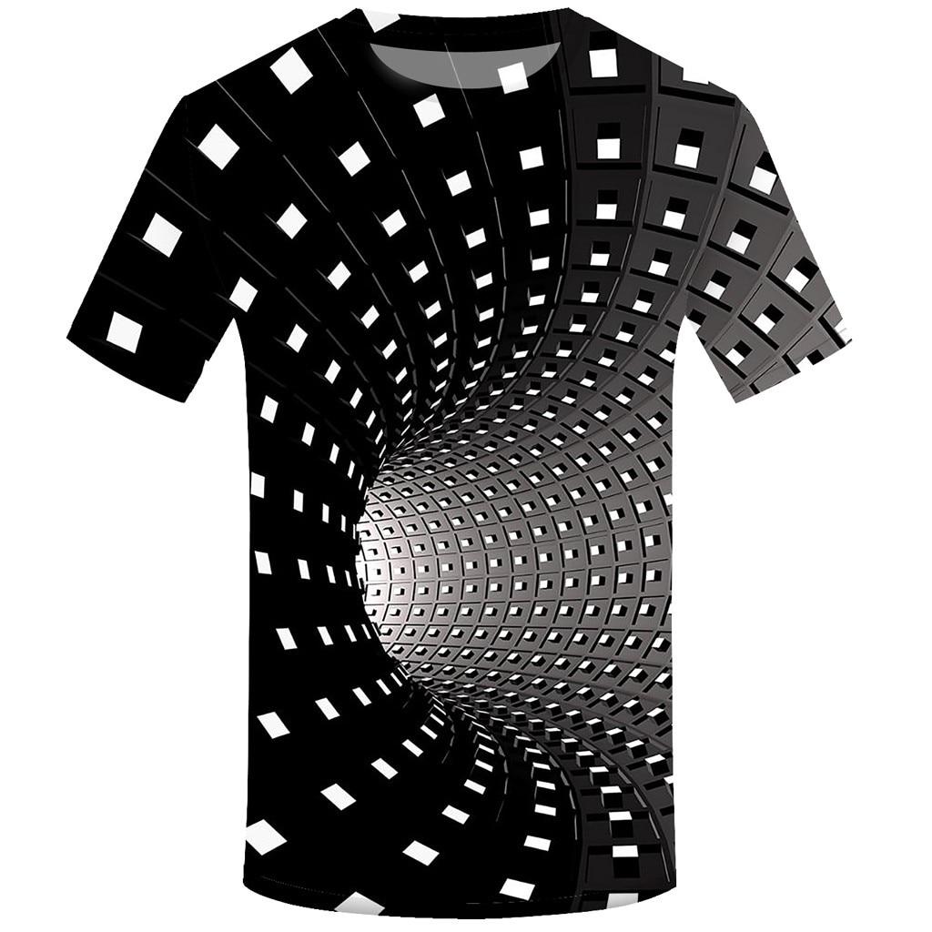 Летняя футболка с короткими рукавами с 3D принтом, Мужская футболка, модная цветная футболка с трехмерным принтом Vertigo Hypnotic, camiseta masculina