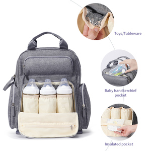 Image 2 - Sunveno Large Capacity Diaper Bag Fashion Maternity Baby Bag Backpack Stylish Stroller Baby Diaper Bag For Mom