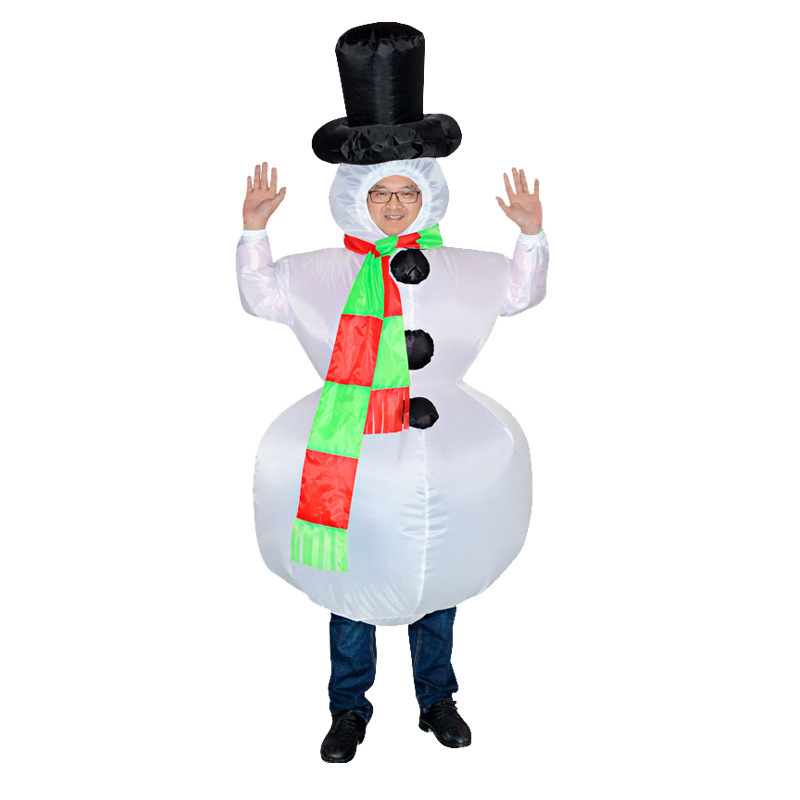 Inflatable Snowman Christmas Costumes Snowman Costume Adult Carnaval Carnival Purim Halloween Christmas Costumes For Women Men