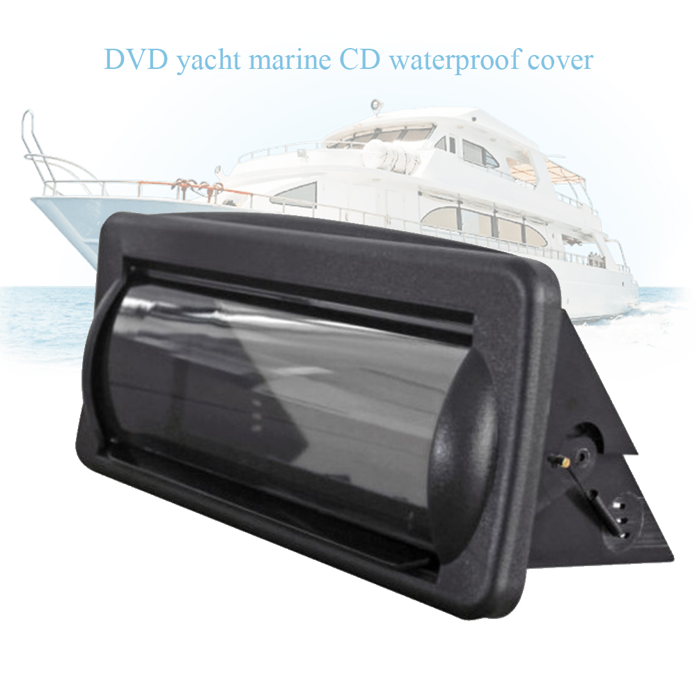 Waterproof Deck Marine Boat Radio DVD Accessories CD Player Frame Easy Install Protective Cover Moisture Resistance Pocket