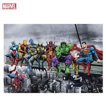 Superhero Canvas Painting Animation Comics Marvel Poster Prints Hulk Captain America Superman Home Wall Art Kids Birthday Gift