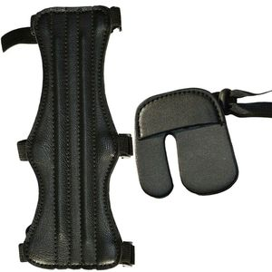 High-quality Durable Leather Protector Finger Arm Guard Archery Protective Gear Sleeve Accessories