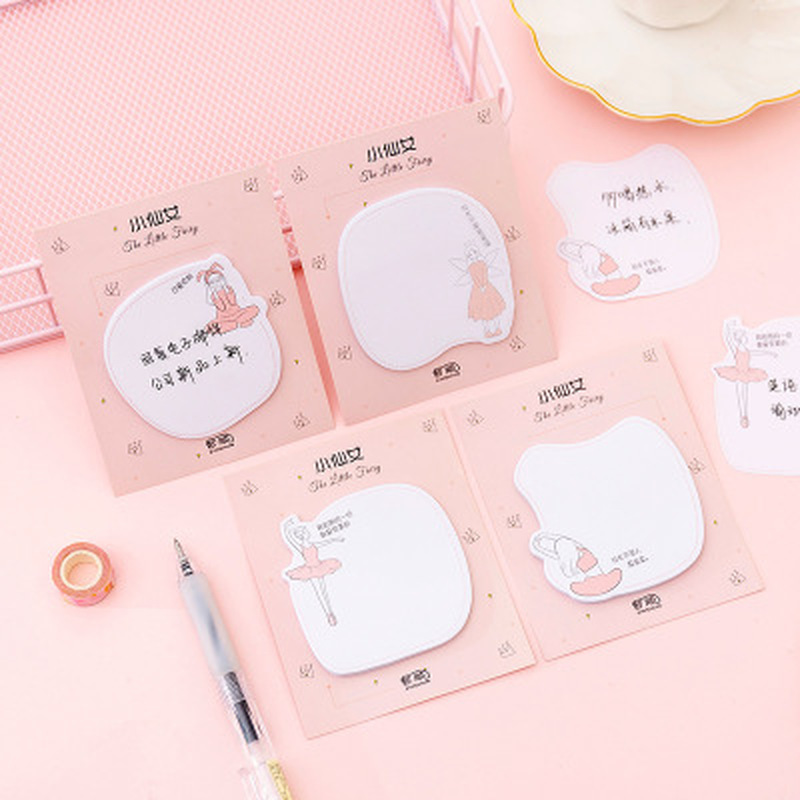 30sheets/1pcs Little Fairy  Memo Pad Kawaii Stationery Cute Planner Stickers Sticky Notes Memo Sheets Kawaii School Supplies