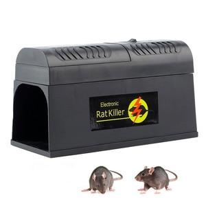 Image 2 - Behogar Electric Shock Mouse Mice Rat Rodent Trap Cage Killer Zapper Reject Rejector For Serious Pest Control EU US UK Plug
