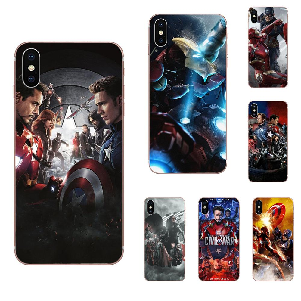 Soft Printing 2016 Captain America Civil War Movie For Galaxy J1 J2 J3 J330 J4 J5 J6 J7 J730 J8 2015 2016 2017 2018 mini Pro image
