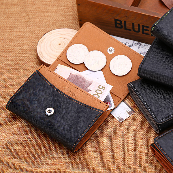 Korean-style PU Leather Wallet Multi-functional Creative Wallet Ultra-Thin Mini Wallet Purse Students Wallet Foreign Trade Suppl