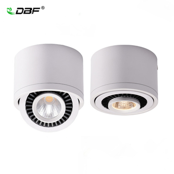 COB LED Recessed Downlights Dimmable 5W 7W 9W 15W Surface Mounted LED Ceiling Lamps Spot Light 360 Degree Rotation LED Downlight triac dimmable 0 10v dimmable dali dimmable 130lm w 50w gimbal downlight 360 degree recessed ceiling led lights 12pcs lot