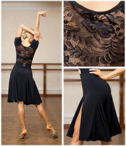 Image 3 - SuperStar Serie: g3044 latin ballroom dance professionelle spitze verbunden seiten split schaukel design kleid (der gürtel nicht enthalten)