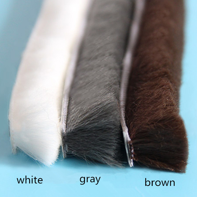 lowest price 5 10M Self-adhesive Sealing Strip Window Sound Insulation Strip Gasket Wind-proof Brush Strip For Wardrobe wooden glass Door