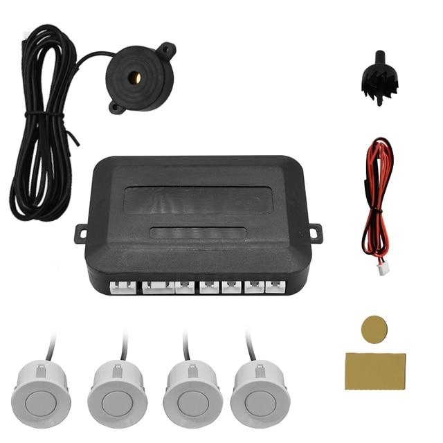 Car 12V 4 pure buzzer reversing radar, Parking Aid radar system, 22mm probe reversing sound