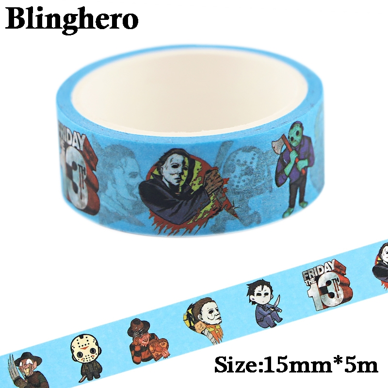 CA742 The Four Big Killers Horror Washi Tape Adhesive Tape Decoration Sticker Scrapbooking Diary Masking Tape Stationery Sticker