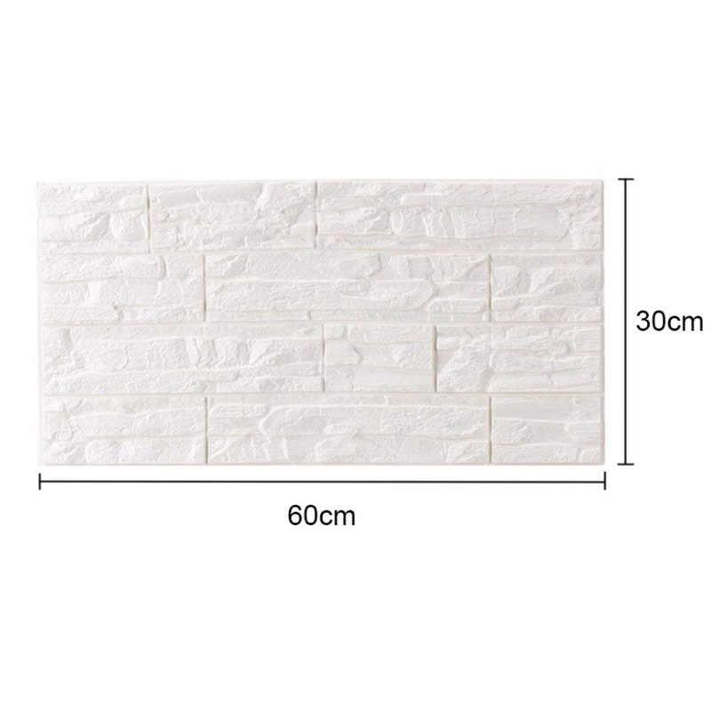1 Uds PE espuma impermeable DIY autoadhesivo 3D etiquetas para paredes de ladrillo y murales revestimiento de paredes papel tapiz para fondo de TV niños Room10