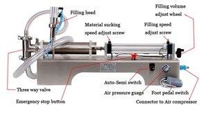 Image 2 - Flüssigkeit Füll Maschine Wasser Pneumatische Kolben Füllstoff Milch Waschmittel Chemische Shampoo Saft Öl Semi Automatische Ejuice Eliquid