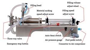 Image 2 - Liquid Filling Machineน้ำPneumatic Piston Fillerนมผงซักฟอกสารเคมีแชมพูน้ำน้ำมันกึ่งอัตโนมัติEjuice Eliquid