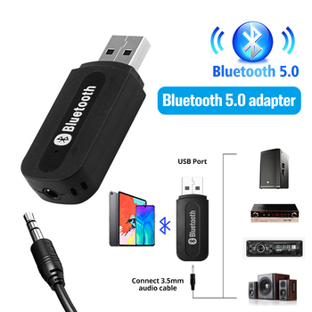 2 in 1 Wireless Bluetooth 5.0 Receiver Transmitter Adapter 3.5mm Jack For Car Music Audio Aux A2dp Headphone Reciever Handsfree 1