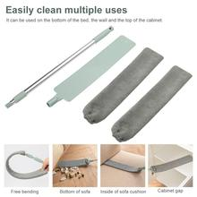 telescopic dust remover brush home bed bottom gap cabinet ceiling window long handle mop duster detachable dust cleaning tool Bedside Dust Brush Long Handle Mop Sweep Artifact Household Bed Bottom Gap Clean Fur Hair Sweeping Dusty Magic Microfibre Duster