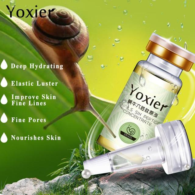 Snails Hyaluronic Acid Six Peptide Concentrate Essence Anti-Aging Anti-Wrinkle Moisturizing Oil-control Face Serum Dropshipping