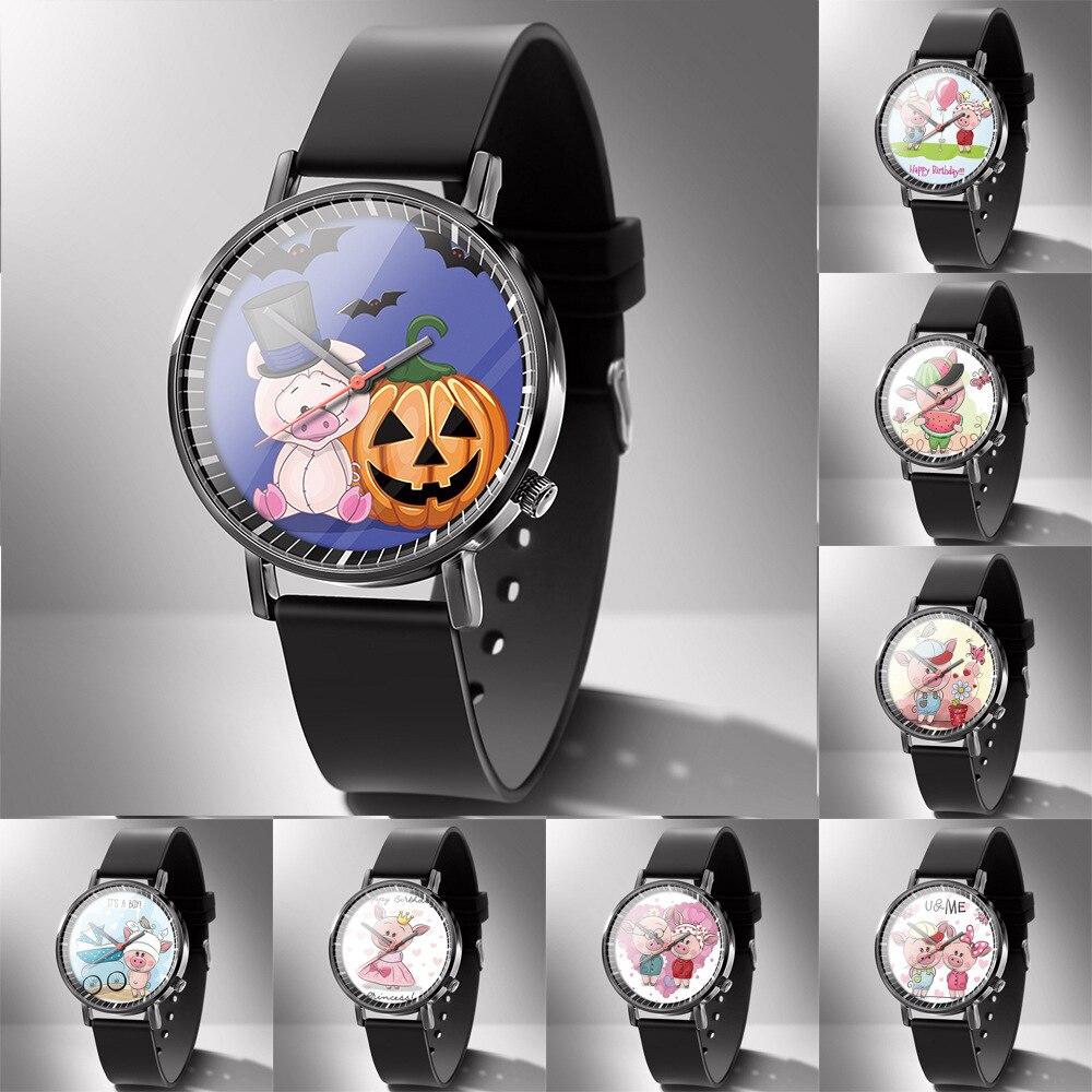 Diy Pig Watch Gift Album Customization Clock Photo Made LOGO Name Customized Men Watches Drop Shipping 1 Piece Custom WM322