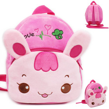 цена на Cute 1-3 years old children plush bag baby early education park cartoon baby playing backpack