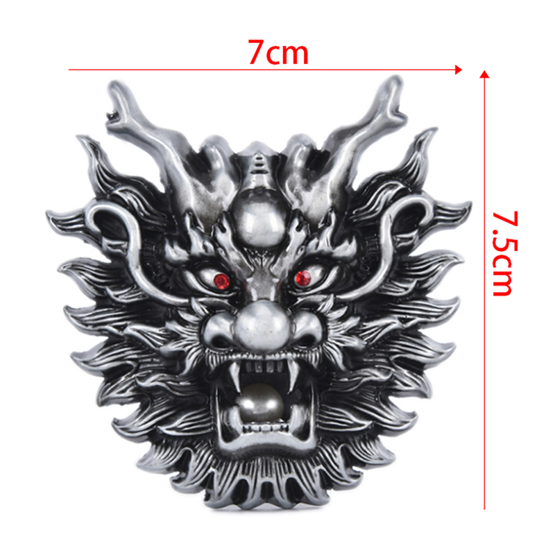 Dragon Metal Cool Belt Buckles For Man Unisex Western Fashion Buckle Cowboys Cowgirls Paracord Buckle