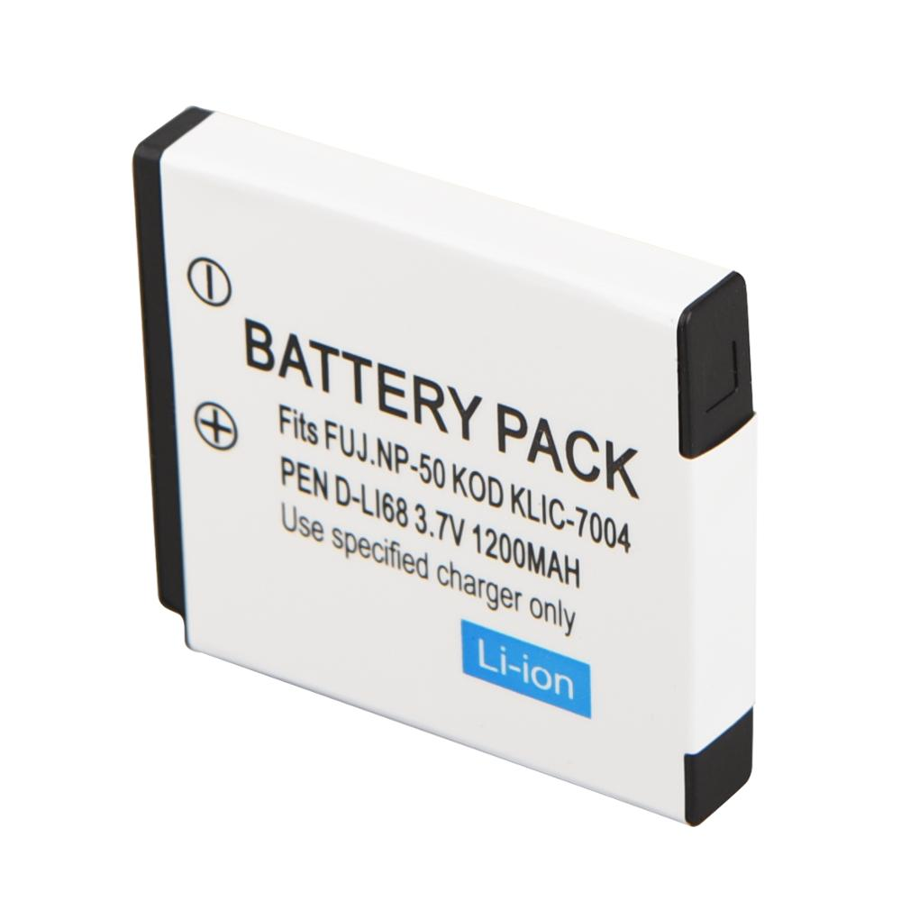 1200mAh NP-50 KLIC-7004 D-LI68 Rechargeable Camera Battery For FUJIFILM FinePix KODAK EasyShare PENTAX Optio S12 Backup Bateria(China)