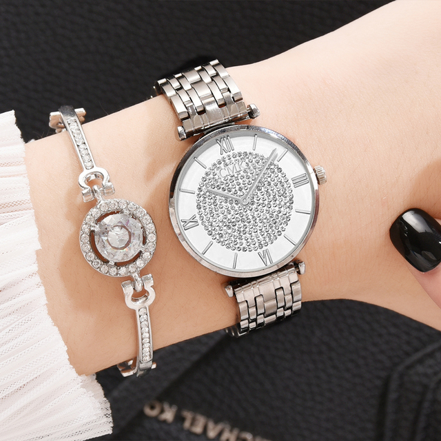 Women Watches Simple Romantic Rose Gold Ladies Watch 3