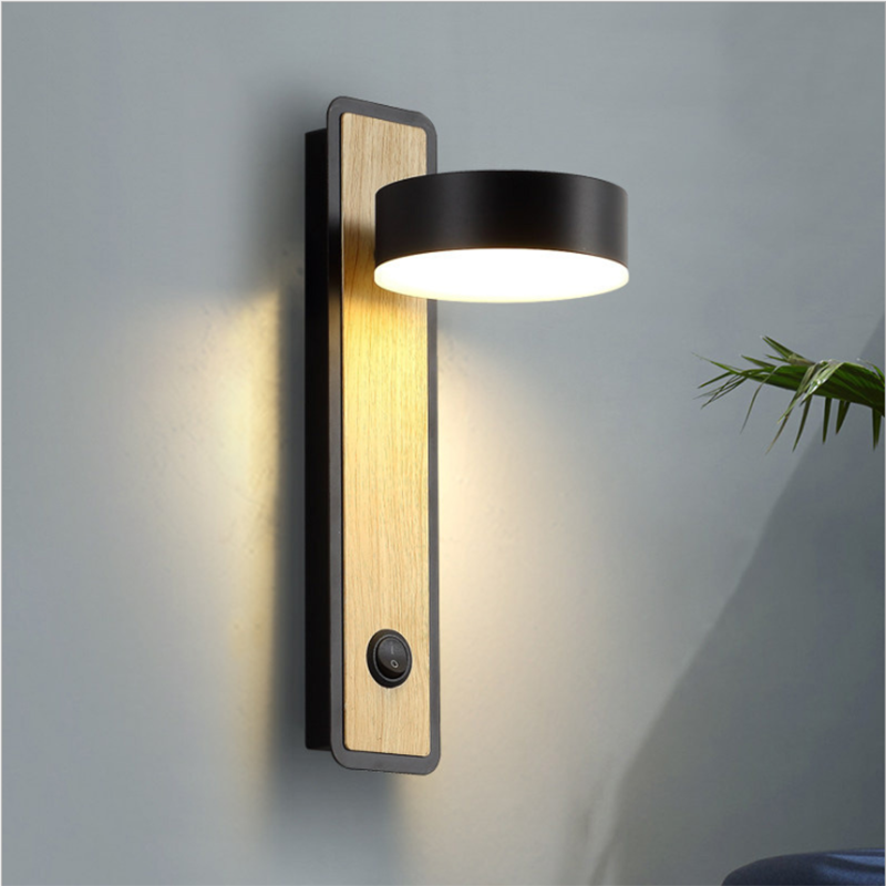 Zerouno Led Wall Lamp Bedside Book Lamp Reading Light 350 Degree Rotating Wall Night Lighting Sconeces Fixtures