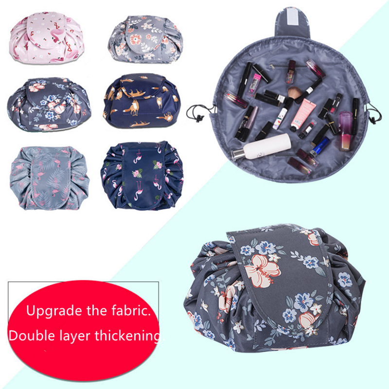 Vogvigo Animal Floral Women Drawstring Travel Cosmetic Bag Makeup Bag Organizer Case Storage Pouch Toiletry Beauty Kit Box