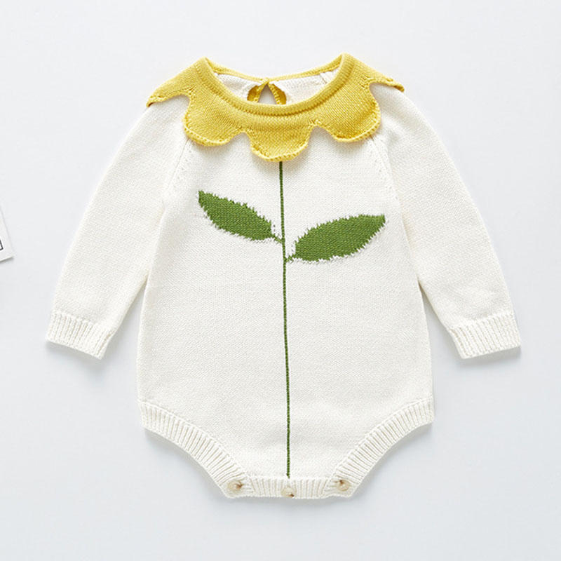 Knitted Baby Clothes Autumn Winter Newborn Bodysuit Long Sleeve Cotton Infant Baby Girl Jumpsuit Infant Boys Bodysuit Sweater 5