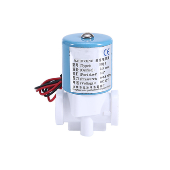 DC 12V Solenoid Valve G1/4 inch Plastic For Water Dispenser Purifier Normally Closed 2 Way 0-120PSI 0-0.8MPa