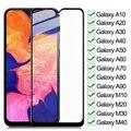 9D полное закаленное стекло для Samsung Galaxy A10 A20 A30 A40 A50 A60 A70 защитная пленка A80 A90 M10 M20 M30 M40