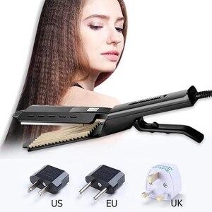 Image 4 - Women Hair Straightener Steam hair Iron Four gear temperature adjustment Ceramic Tourmaline Ionic Flat Straightening Irons