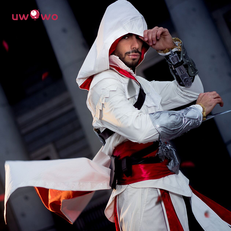 Uwowo Cosplay Adult Men Streetwear Hooded Jacket Coats Outwear Costume Edward Assassins Creed Halloween Costume
