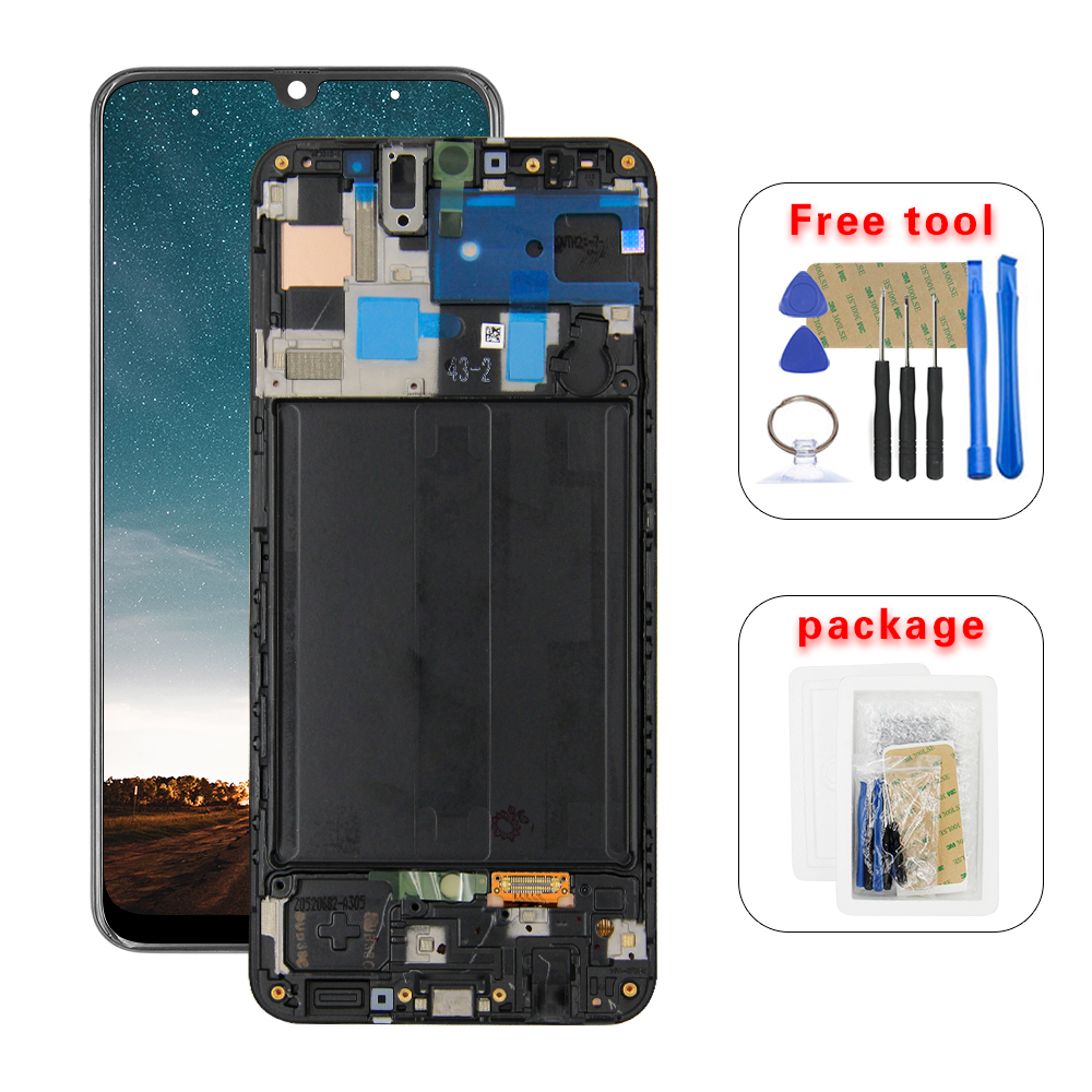 For Samsung Galaxy A50 SM-A505FN/DS A505F/DS A505 LCD Display Touch Screen Digitizer Assembly With Frame