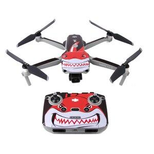 Image 4 - Pegatinas para drones de colores para DJI Mavic Air 2, película protectora decorativa cuerpo de Dron + mando a distancia + 3 protector de batería