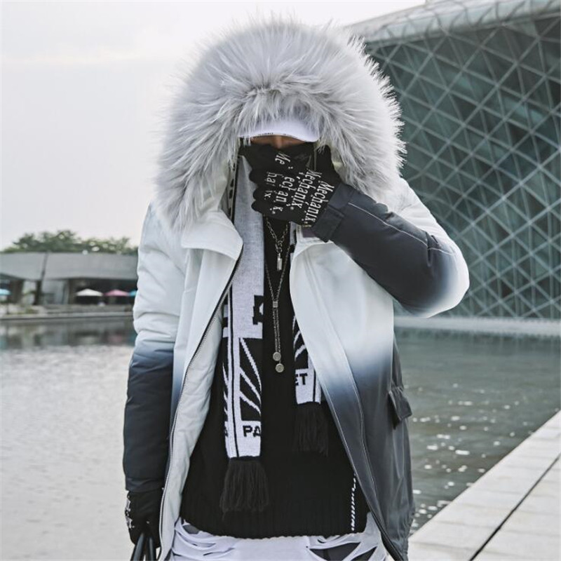 NAGRI free delivery 2020 New Men Winter Splice Jacket Thick Warm Parka Fur Hooded Male Winter Coats S M L XL XXL XXXL