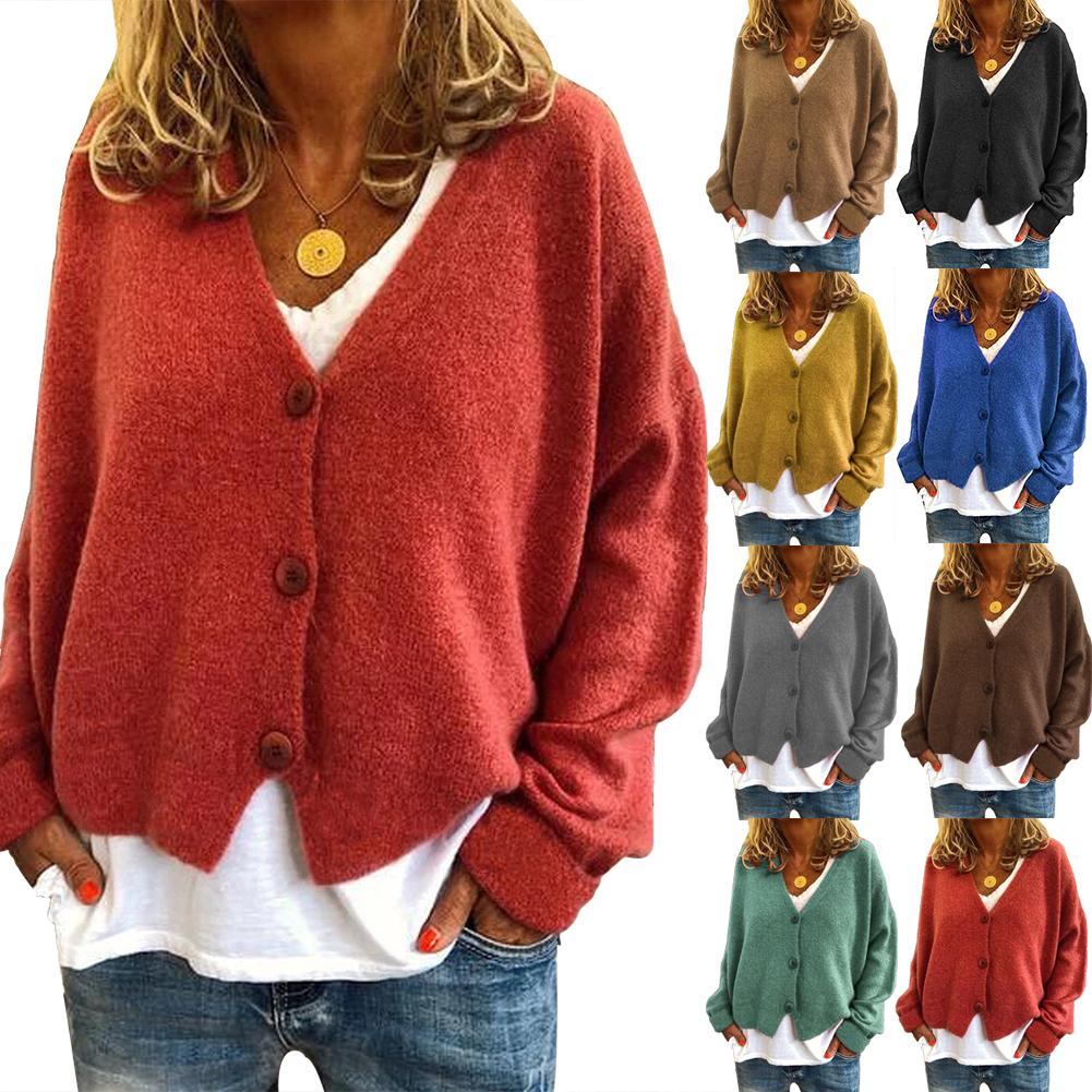 Casual Women Knitted Cardigans Autumn Winter Cardigans Women Sweaters Warm Long Sleeve Single-breasted Cardigan Ladies Sweaters