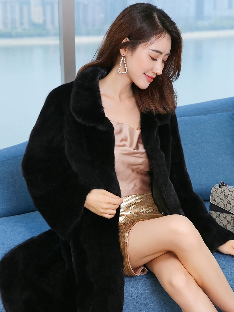 Fur Mink Real Coat Female Luxury Fur Coats Winter Jacket Women Full Pelt Natural Fur Jackets For Women Clothes 2020 MY S S