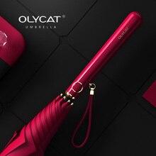 Umbrella Rain Beach Parasol Elegant Outdoor Anti-Uv Long-Designer Women Windproof Olycat