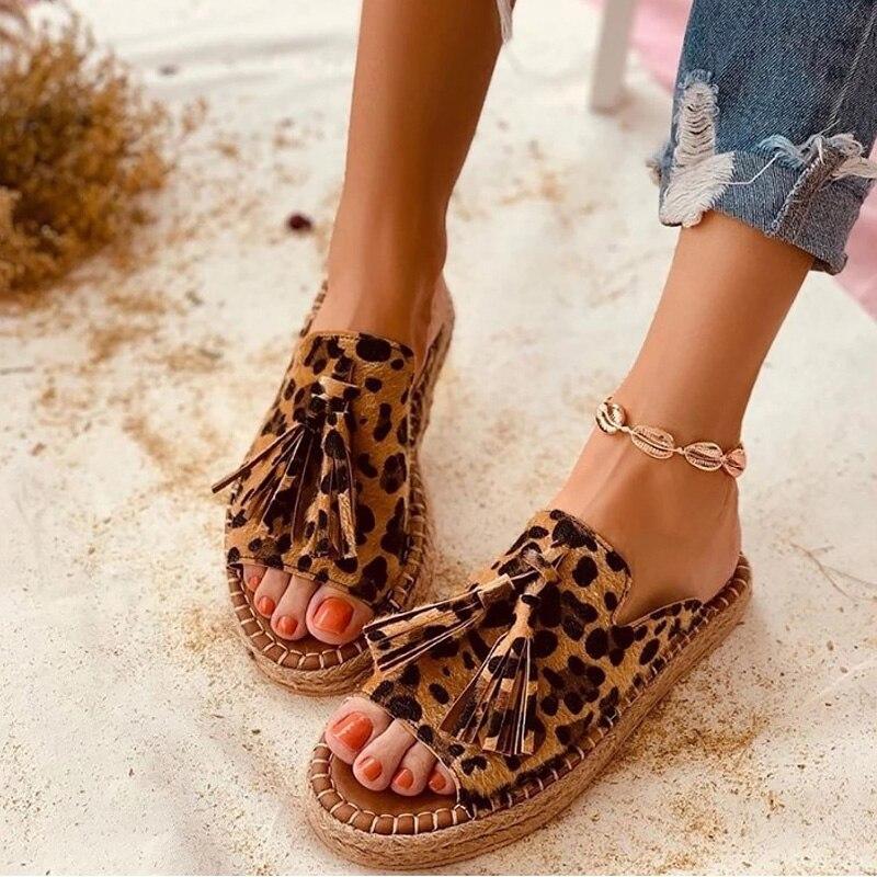 Women's Slippers Fashion Tassels 2020 Summer Shoes Brand Beach Slides Retro Mules Shoes For Women Flat Slipper Outdoor