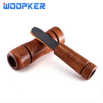 Duck Decoy Imitate Pheasant Goose Call Voice Trap Brown Oak Wooden Bird Whistle for Hunting Accessories
