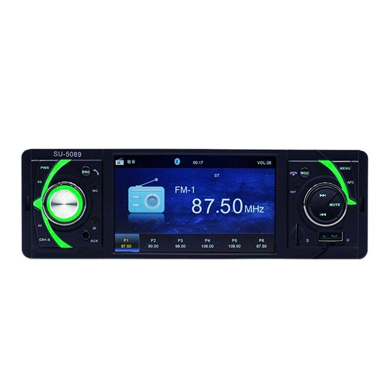 1Din 4.1 pouces autoradio sans fil télécommande Bluetooth mains libres Fm Aux carte Sd lecteur Usb Mp4
