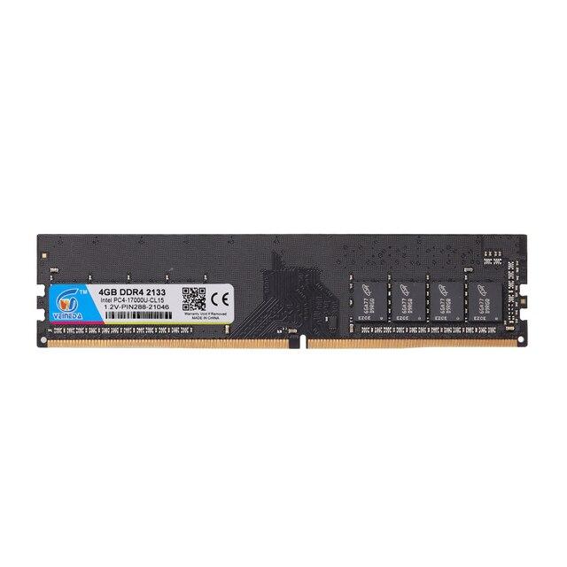 VEINEDA ddr4 8 gb ordinateur RAM 4GB 8GB 4G 8G mémoire DDR 4 PC4 2133 2400 2666Mhz carte mère de bureau Memoria 288 broches