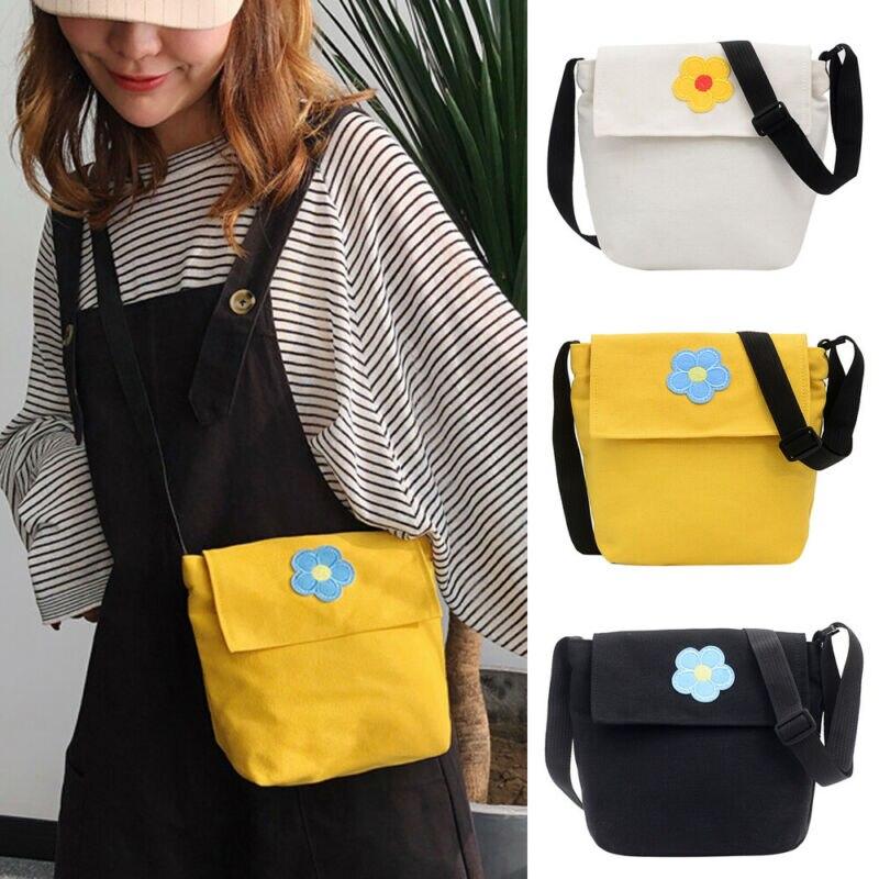 2020 Autumn Women Fashion Canvas Handbag Shoulder Bags Figure Small Tote Purse Travel Work Messenger Hobo Floral  Bag