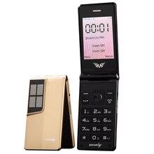 Flip tela de 2.8 polegadas original flip, teclado grande, celular de toque barato, celular idosos, clamshell, russo h móvel