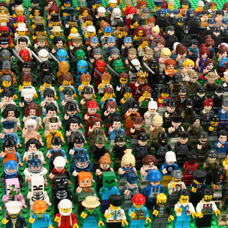 120 pçs mini figuras de ação ninja soldado blocos de construção para crianças presentes ninjago polícia modelos tijolos brinquedos para crianças meninos presente
